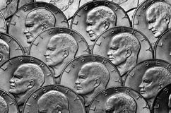 Silver Coins American Money Wealth and Riches stock photography