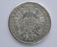 Silver coins, Austria - Hungary Stock Image