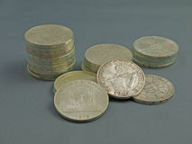 Silver coins Royalty Free Stock Photo