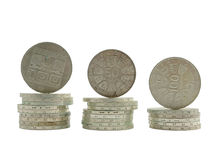 Silver coins Stock Photos