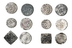 Silver Coins India Stock Images