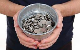 Silver coins Royalty Free Stock Photos