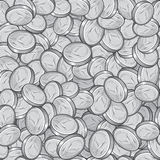 Silver Coins Seamless Pattern. Vector. Image royalty free illustration