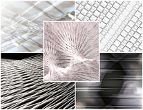 Silver collage Royalty Free Stock Photo