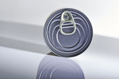 Silver color cover from can Stock Photo