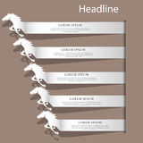 Silver color horse text racing Royalty Free Stock Photo