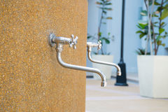 Silver color Metal faucet Stock Images