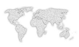 Silver color world map illustration Stock Photos