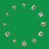 Silver color zodiac icons Royalty Free Stock Images