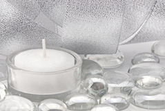 Silver colored decoration Royalty Free Stock Photos