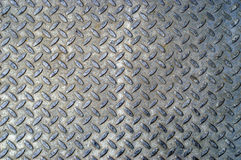 Silver colored diamond plate b Royalty Free Stock Photography