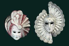 Silver colored mask Royalty Free Stock Photos