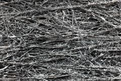 Silver colored meshwork. As texture or background stock image