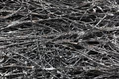 Silver colored meshwork. As texture or background royalty free stock photo