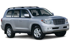 Silver Colored SUV Stock Photography