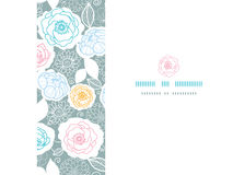 Silver and colors florals horizontal seamless Royalty Free Stock Photos