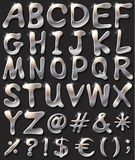 Silver coloured letters Stock Photo