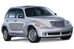 Silver Compact Car Royalty Free Stock Photos