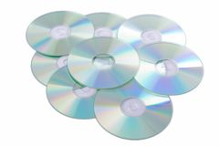 Silver Compact Discs Stock Photos
