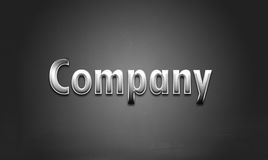Silver company logo Royalty Free Stock Photo