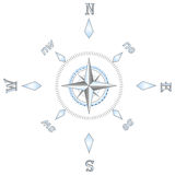 Silver compass Stock Photos