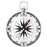 Silver compass Royalty Free Stock Images