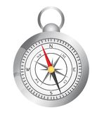 Silver compass Stock Photography