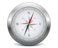 Silver compass Royalty Free Stock Photos