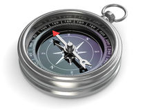 Silver compass Stock Image