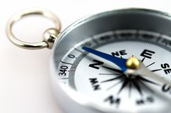 Silver Compass Royalty Free Stock Image