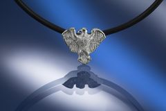 Silver condor pendant Royalty Free Stock Photo
