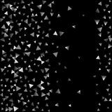 Silver confetti triangle on a black background. vector illustration