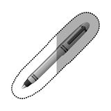 Silver contour metal ballpen icon. Illustraction design image Stock Photo