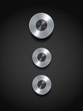 Silver control buttons on black Royalty Free Stock Photo