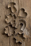 Silver cookie cutters Stock Photography
