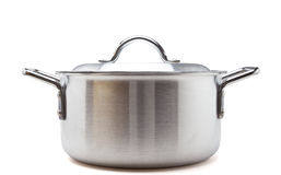 Silver cooking pot Royalty Free Stock Photography
