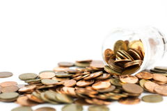 Silver and copper coins Royalty Free Stock Photography