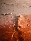 Silver and copper color Stock Images