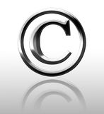 Silver copyright symbol Stock Images