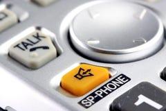 Silver cordless phone keypad closeup Stock Image