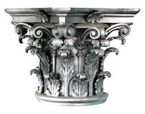 Silver Corinthian order columns Royalty Free Stock Images