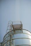 silver corn silo Stock Photo