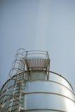 silver corn silo Stock Images