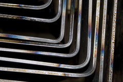 Silver corners. A background with abstract silver corners Stock Images