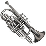 Silver Cornet Royalty Free Stock Images