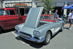 Silver Corvette Stock Images