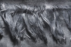 Silver cotton fringe Stock Photos