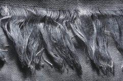 Silver cotton fringe Stock Photos