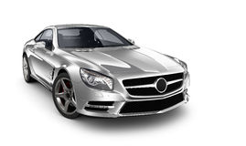 Silver coupe car Stock Photography