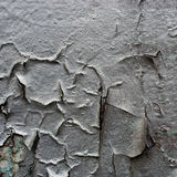 Silver cracked paint texture Royalty Free Stock Photos